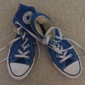 Royal blue converse high tops